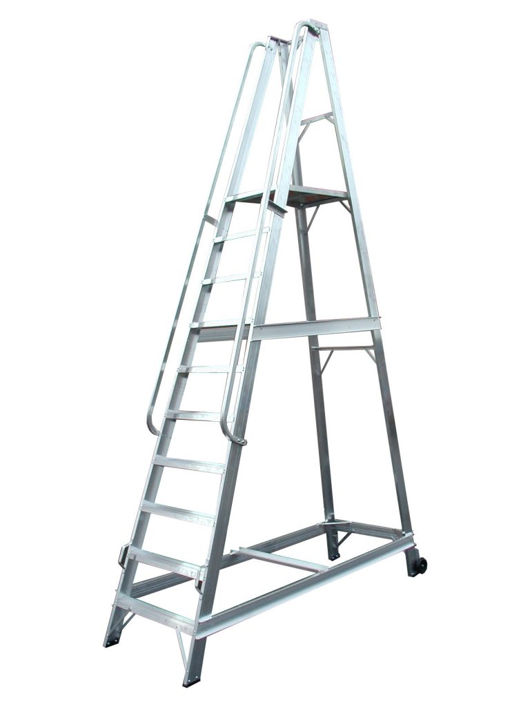 Extra Height Warehouse Steps Chase Ladders